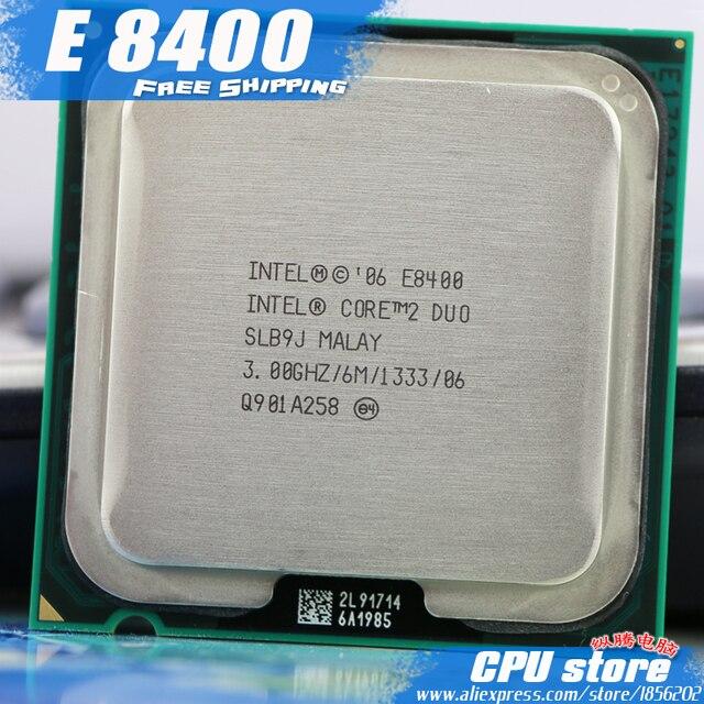 إنتل كور 2 ديو E8400 معالج وحدة المعالجة المركزية (3.0 Ghz/6 M/1333 GHz) ثنائي النواة المقبس 775 (العمل 100%) بيع E8500 E8600