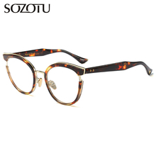 SOZOTU Eyeglasses Frame Women Prescription Optical Computer Clear Lens Glasses Spectacle Frame For Female Oculos Eyewear YQ398