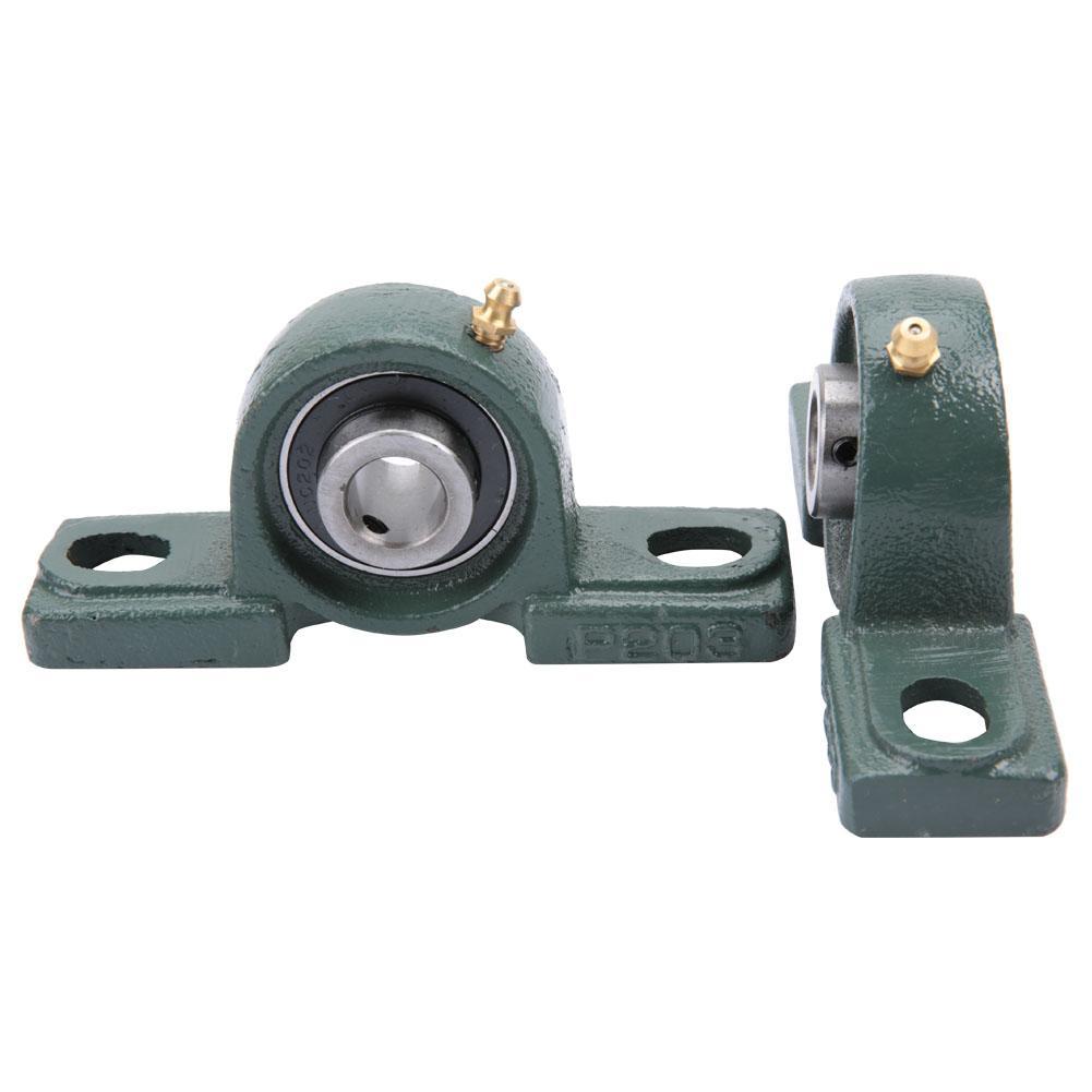 Pillow Bearing,2pcs UCP203 Pillow Block Bearing Ball Mounted Bearing Cast Housing OD 40mm ID 17mm