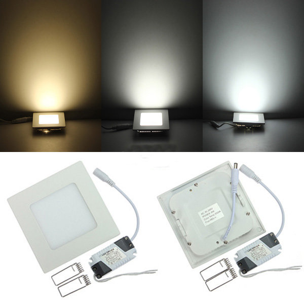 3W <font><b>4W</b></font> 6W 9W 12W 15W 25W Dimmable Ultra thin design <font><b>LED</b></font> Dimmable Ceiling Recessed Grid <font><b>Downlight</b></font> / Slim Square Panel Light image