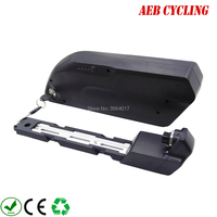 Free shipping and taxes Lithium ion 48V 11.6Ah tiger shark down tube electric bicycle battery for fat tire bike with charger