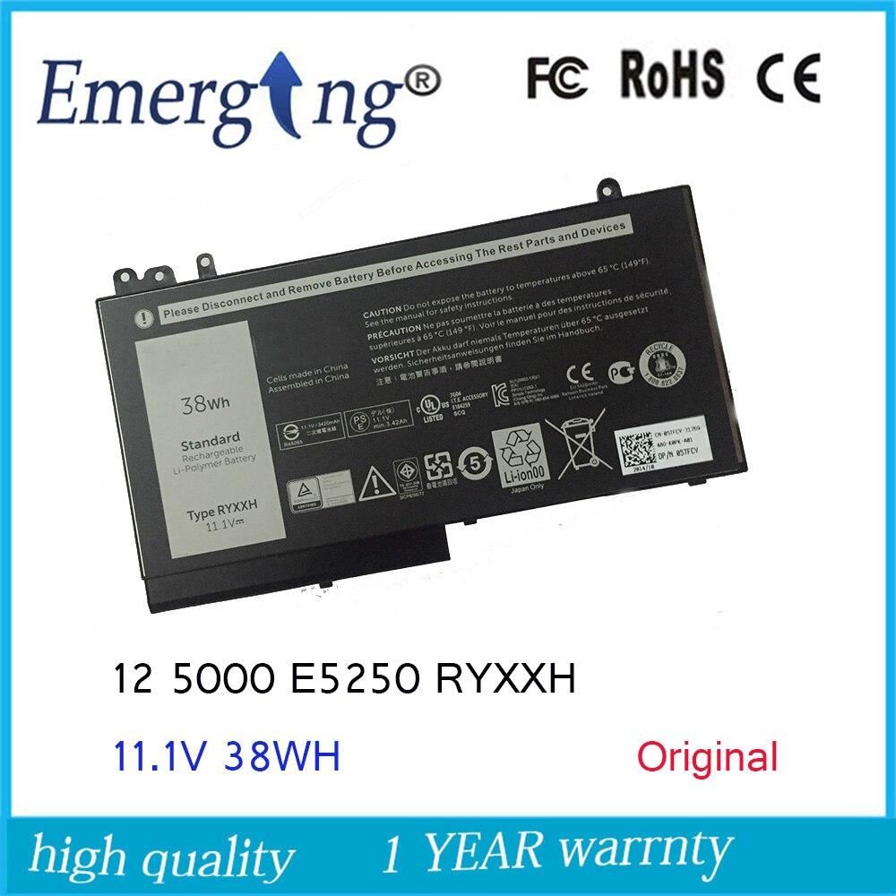 11.1 v 38WH Nouvelle Batterie D'origine pour Ordinateur Portable Dell Latitude 12 RYXXH 5000 3160 E5250 E5450 E5550 5 TFCY 09P4D2