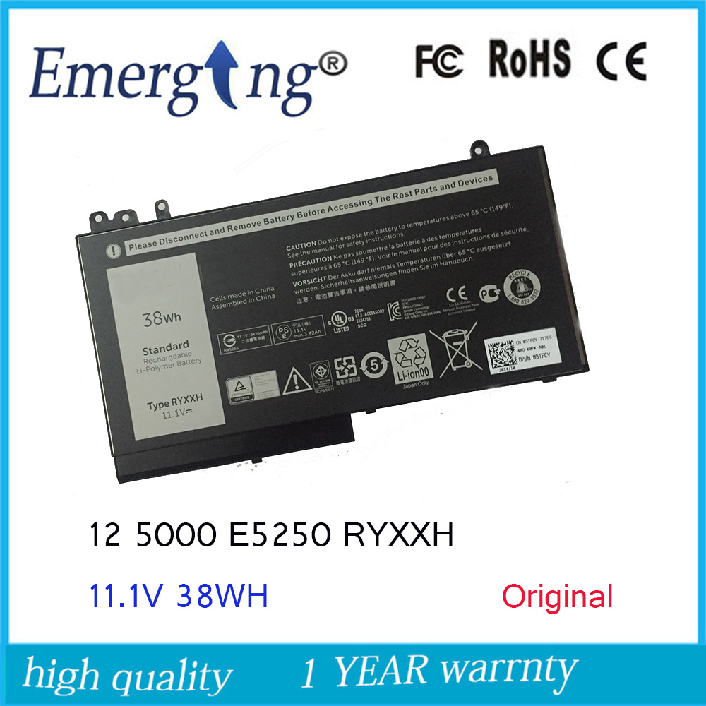 11.1V 38WH New Original Laptop Battery for Dell Latitude 12 RYXXH 5000 3160 E5250 E5450 E5550 5TFCY 09P4D2