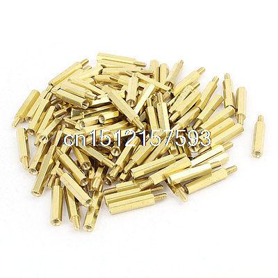 M3 20mm+6mm Male to Female Brass PCB Screw Spacer Hex Stand-Off Pillar 100pcs 50 pcs m3 7mm 6mm male female thread nylon pcb hex stand off screw spacer