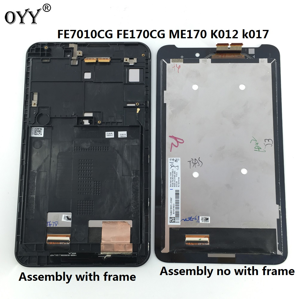 LCD display screen touch screen Digitizer Assembly with frame 7.0 inch for For ASUS memo Fonepad 7 ME70C ME170CX used parts lcd display monitor touch screen panel digitizer assembly frame for asus memo pad smart me301 me301t k001 tf301t