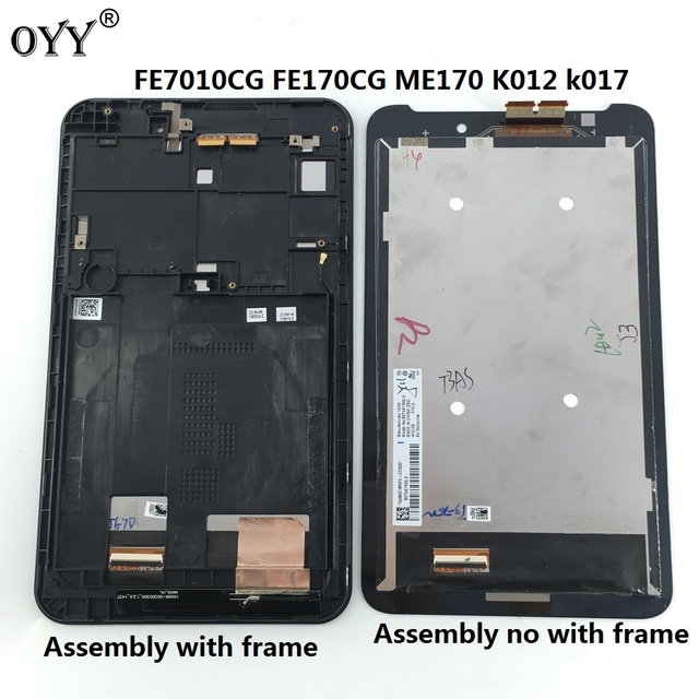 LCD display screen touch screen Digitizer Assembly with frame 7.0 inch for For ASUS memo Fonepad 7 ME70C ME170CX