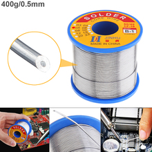 60/40 B-1 400g 0.5mm-1.2mm No-clean Rosin Core Solder Wires with 2.0% Flux and Low Melting Point for Electric Soldering Iron new 951 10ml 13cm soldering rosin flux pen low solid non clean for kester soldering solar panel diy power panel