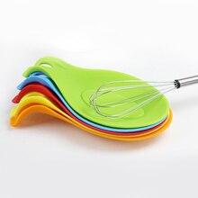 1 шт., силиконовая ложка, изоляционный коврик, Силиконовая Термостойкая подставка для напитков, стеклянная подставка, подставка для ложки, аксессуары для кухонных инструментов