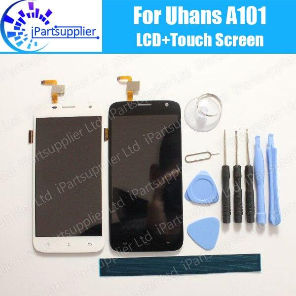 imágenes para 5 Pulgadas Uhans A101 LCD Display + Pantalla Táctil 100% Original LCD Digitalizador Reemplazo de Cristal Del Panel Para Uhans A101 1280x720 + herramientas