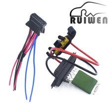 Лучшее качество нагреватель двигателя воздуходувки резистор вентилятор оплетка для проводов для Renault Megane MK II 2002 2003 2004 2005-2008 7701207717 7