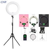 CNP фото студия телефон видео 18 дюймов приглушаемая Фотографическая светодиодный кольцевой светильник с зеркальным штативом Стенд сумка дл