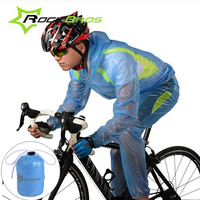 Rockbros Cycling Bicycle Riding Raincoat Waterproof Cycling Rain Jacket Suit Climbing Hiking Fishing Rainwear Rainproof Pants