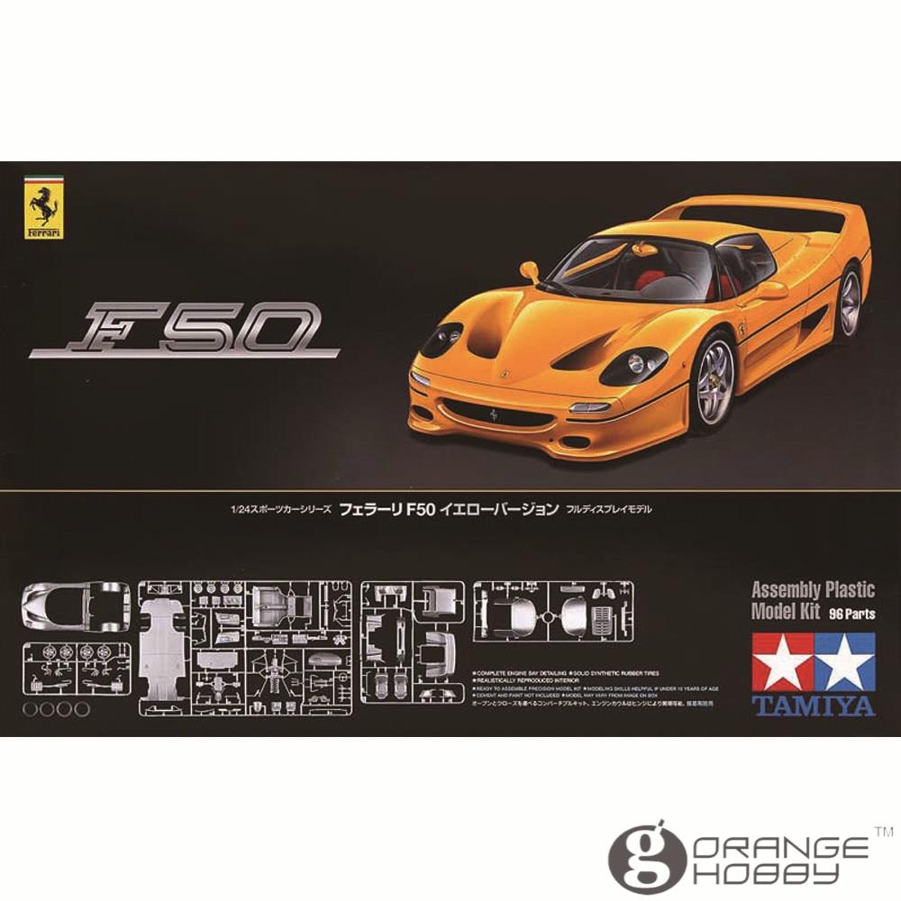 Oyuncaklar ve Hobi Ürünleri'ten Modeli Yapı Setleri'de OHS Tamiya 24297 1/24 F50 Sarı Sürüm Ölçekli Montaj Araba Modeli Yapı Kitleri G'da  Grup 1