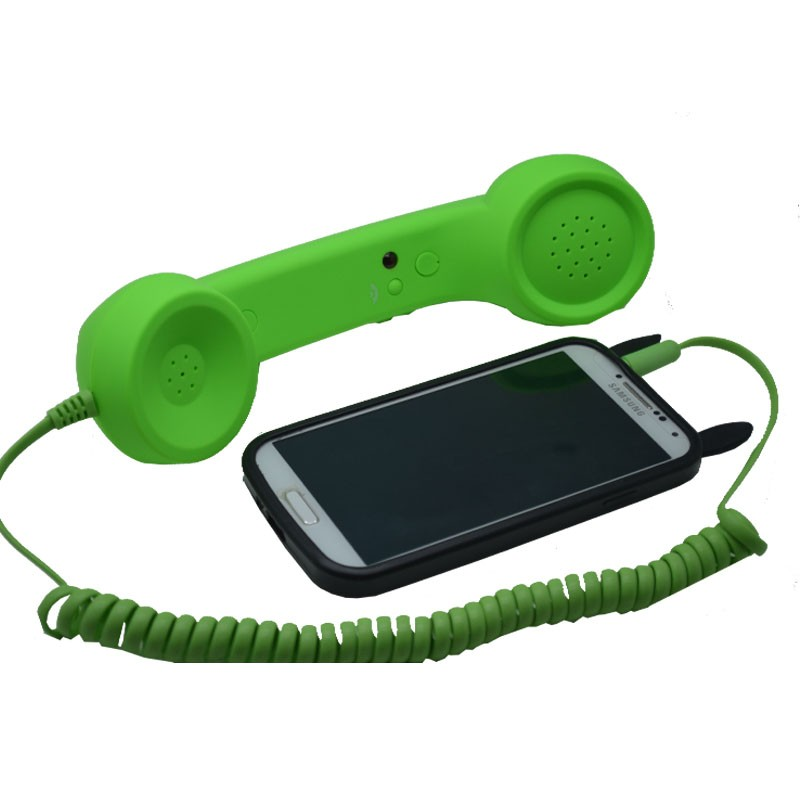 2017 vendite Calde di modo Retro microtelefono del telefono specificamente sul telefono cellulare anti-radiazioni Cuffie di telefonia mobile trasporto libero