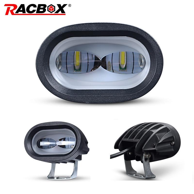 6D Len LED Work Light Universal Motorcycle Off Road Auxiliary Spot Lamp Driving Fog Light For Car Truck Motorbike Headlight Spot