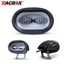 Luz LED de trabajo 6D para motocicleta foco auxiliar Universal para conducción, antiniebla, para coche, camión y moto