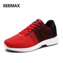2016 Air Mesh Running Shoes For Men Sports Sneakers Breathable Run Man Shoes High Quality Contrast Color Red Grey Blue Black