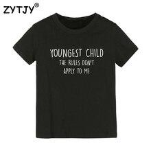 Детская футболка с буквенным принтом для маленьких детей футболка для мальчиков и девочек, детская одежда для малышей Забавные футболки, Прямая поставка, Y-92