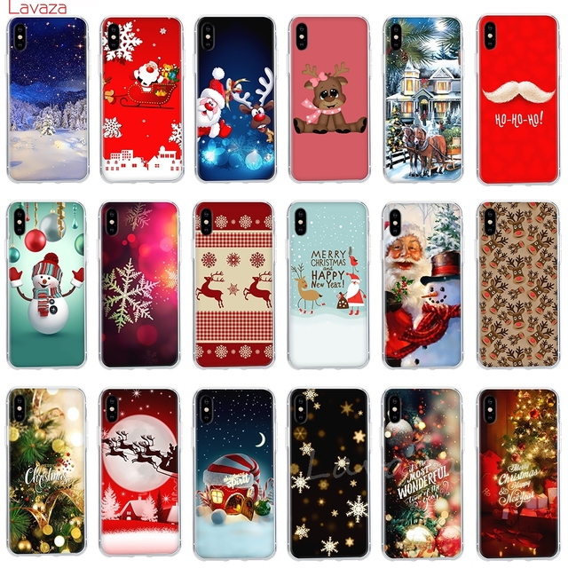 Lavaza New year christmas design Hard Phone Case for Apple iPhone 6 6s 7 8 Plus X 5 5S SE Cover for iPhone XS Max XR Shell Cases