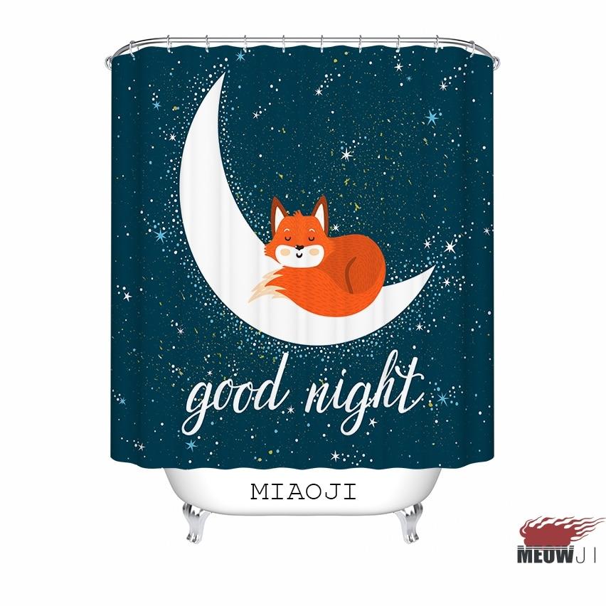 [MIAOJI]  Good Night Starry Sky In Blue custom Shower Curtain - Household Merchandises - Photo 4