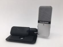 Original Samson Go Mic portable clip type Mini recording condenser microphone with USB cable carry case for computer recording cheap Computer Microphone Single Microphone Tabletop Wired