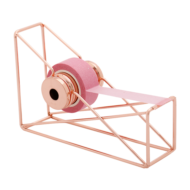High quality rose gold Tape Cutter Washi Tape Storage Organizer Cutter Stationery  Office Tape Dispenser Office Supplies