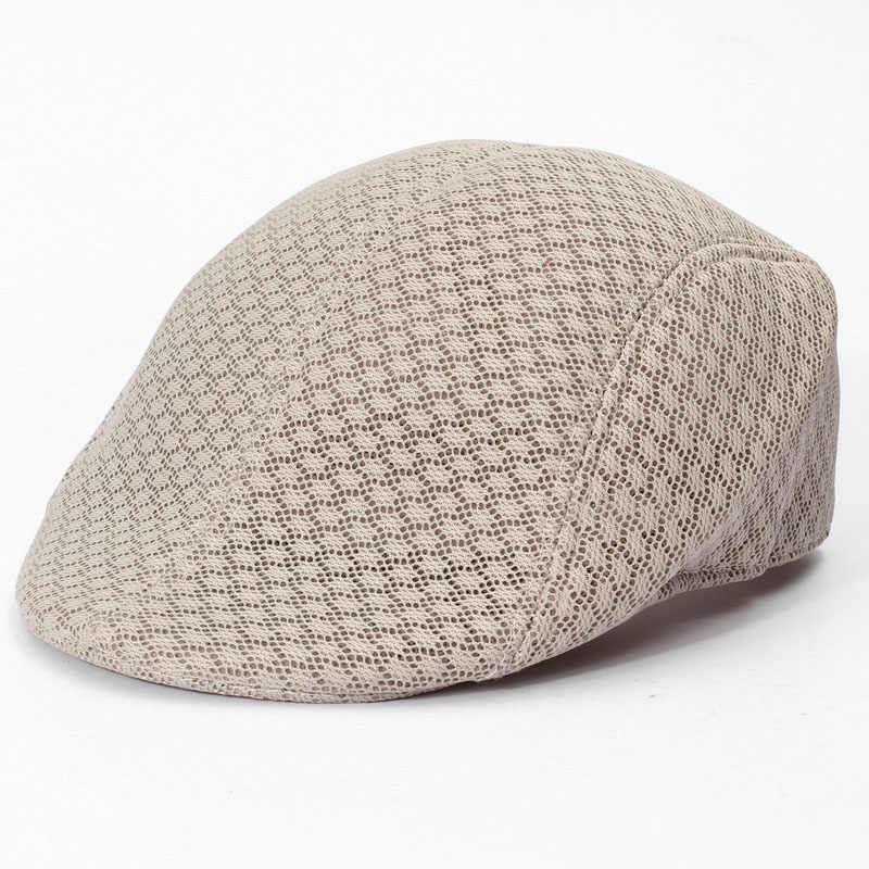 c11192e5d0d57 ... New Design Mesh Newsboy Cap Mens Ivy Hat Golf Driving Summer Sun Flat  Cabbie Visors Caps