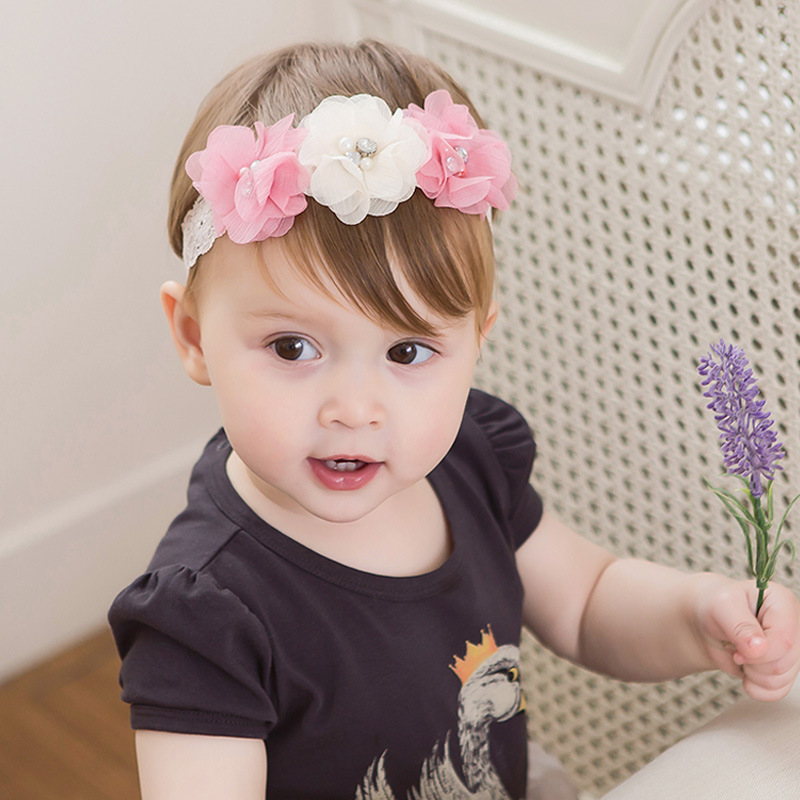 011dd606d22c mery Yuer Baby Headband Kids 3 Flowers Rhinestone Hairbands Toddler Girls  Headwear Infantil Menina Clothing Accessory