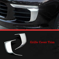 Front Fog Light Lamp Cover Trim Strip Glue Stickers ABS Fit for Porsche Cayenne 2015 2016