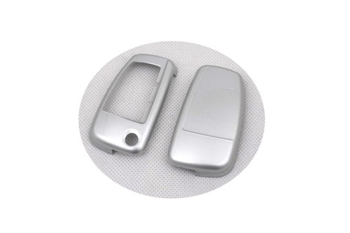 Жесткий Пластик без ключа дистанционного защиты Чехол(глянец серебро) для Audi