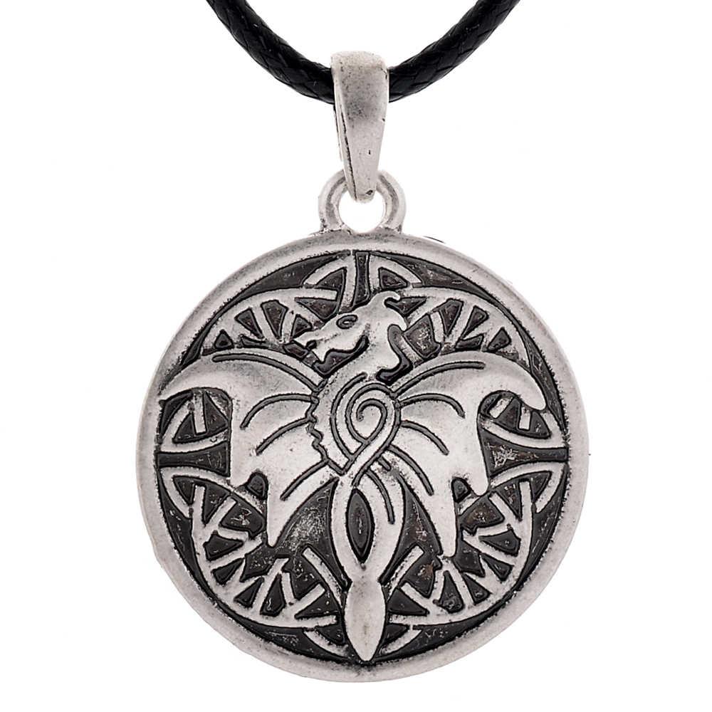 Ретро Стиль дракон кулон ожерелье талисман Прямая доставка 1