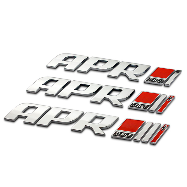 Apr stage i i ii ii iii letters chrome metal emblem trunk logo badge car styling