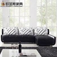 Французский стиль новый дизайн дивана черно белый маленький размер L образный Мини Дом типы гостиной кожаный диван в китайском стиле наборы