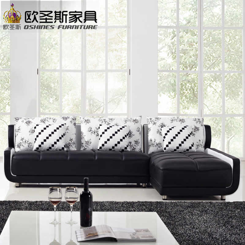 French Style New Sofa Design Black And White Small Size L Shaped Mini House Types Of Living Hall Chinese Leather Sofa Sets K001 Sofa Black Design Sofanew Design Sofas Aliexpress