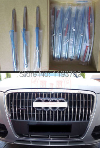 Audi Q5 New Stainless steel Front Grille Trim 2010 2011 2012 ( 3/ Set ) - Travel around the world store