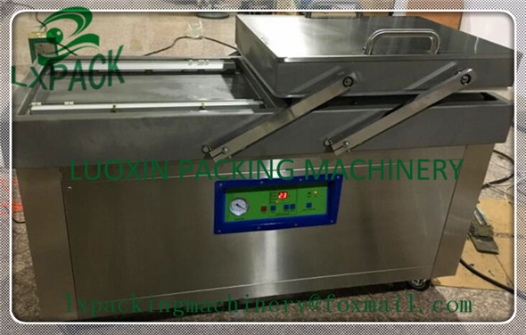 LX-PACK Lowest Factory Price Highest Exporting Quality Customized Vacuum Sealer double Chambers 600mm max sealing (Gas insert) lx pack brand lowest factory price highest quality horizontal solid ink continuous heat sealing machine bags sealer gas packing