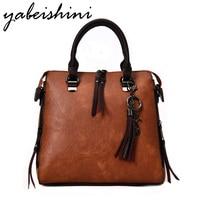 YABEISHINI Brand Handbag Female Large Capacity Tote Bag High Quality Artificial Leather Shoulder Bag Women Casual