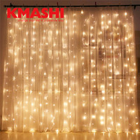 Warm White 6Mx3M 600LED Christmas Holiday LED Fairy String Lights Decoration Party Wedding Wall Curtain Lights