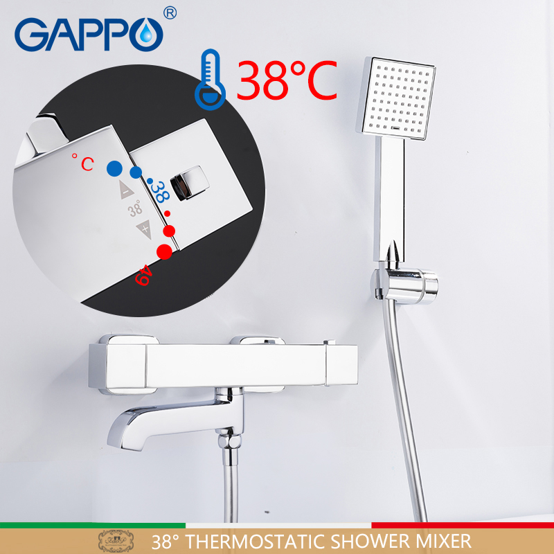 GAPPO Bathtub Faucets thermostatic mixer bathtub tap mixer thermostat faucet bathroom shower tap wall mounted                   GAPPO Bathtub Faucets thermostatic mixer bathtub tap mixer thermostat faucet bathroom shower tap wall mounted