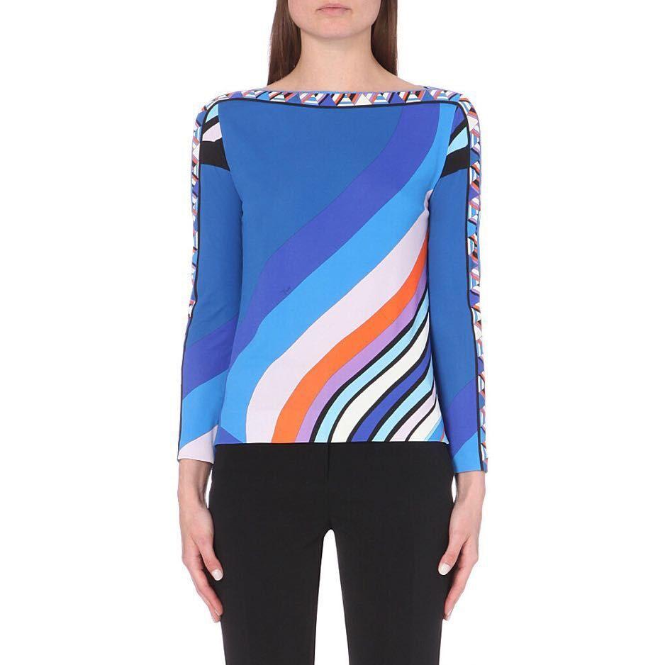 The European women s fashion show fashionable bright printed beautiful slach neck elastic thin silk jersey
