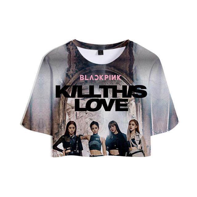 BLACKPINK KILLTHIS LOVE 3D CROP TOP T-SHIRT (6 VARIAN)