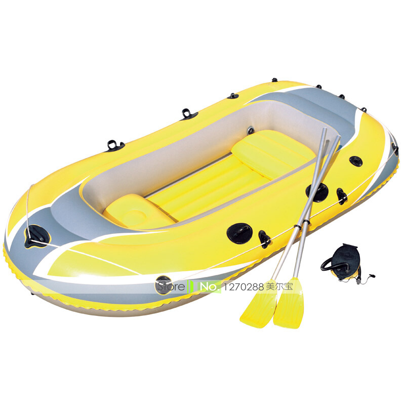 JZ016 Inflatable Rowing Boats With 3 Airbags&Safe Handles Thick/Antiseep/Enlarge Size Add Oar&Pump For 2 Adluts&1 Child oar toddler