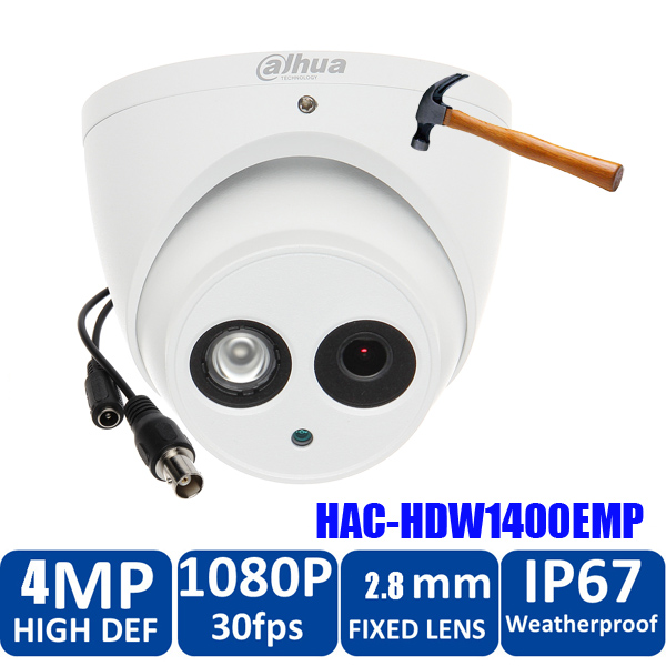 Original Dahua 4MP HDCVI Camera DHI-HAC-HDW1400EMP HDCVI IR dome Security Camera CCTV IR distance 50m HAC-HDW1400EM cvi camera 4 in 1 ir high speed dome camera ahd tvi cvi cvbs 1080p output ir night vision 150m ptz dome camera with wiper
