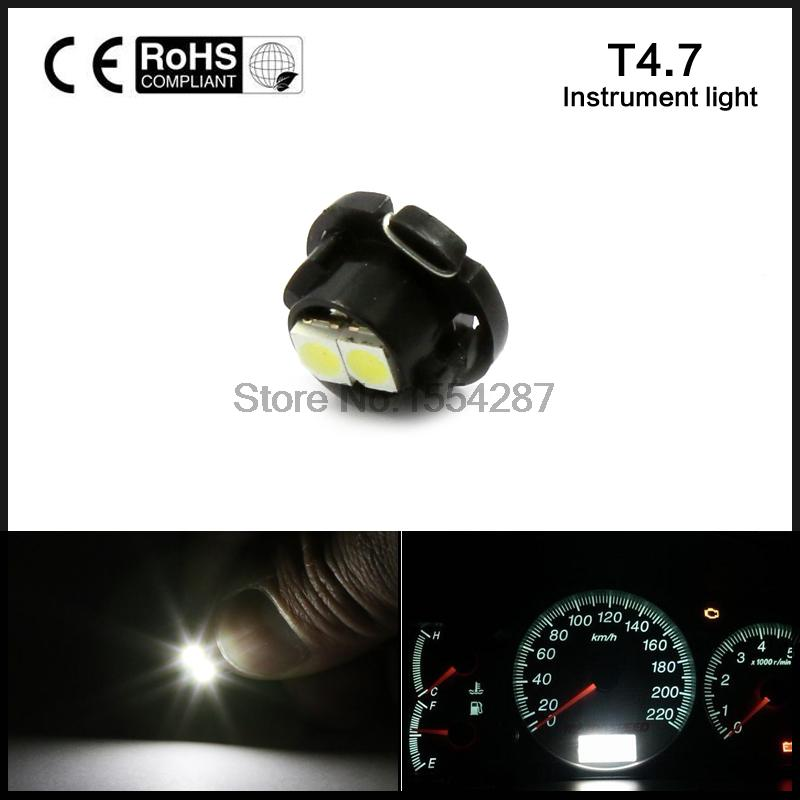 10pcs/lot Super Bright OC0 3528 0.18W 2-SMD LED Car T4.7 Cool White Clock Light Car Instrument Lamp 12V automobiles car-styling цена и фото