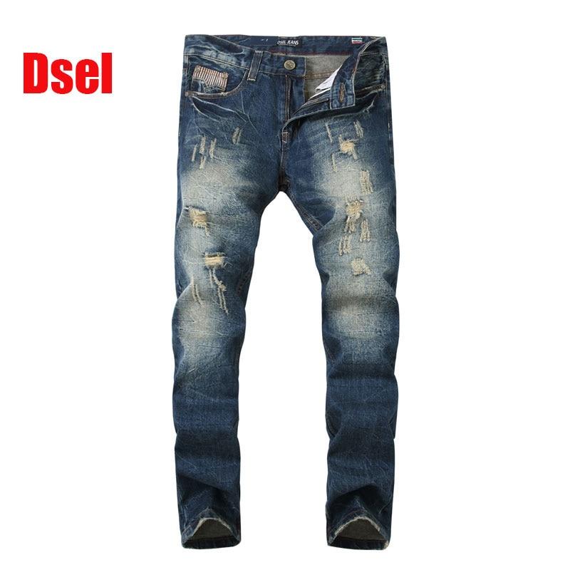 ФОТО 2017 New Men Jeans Dsel Brand Ripped Jeans Men Distressed Destroyed Biker Jeans Denim Pants,skinny jeans men!608-2