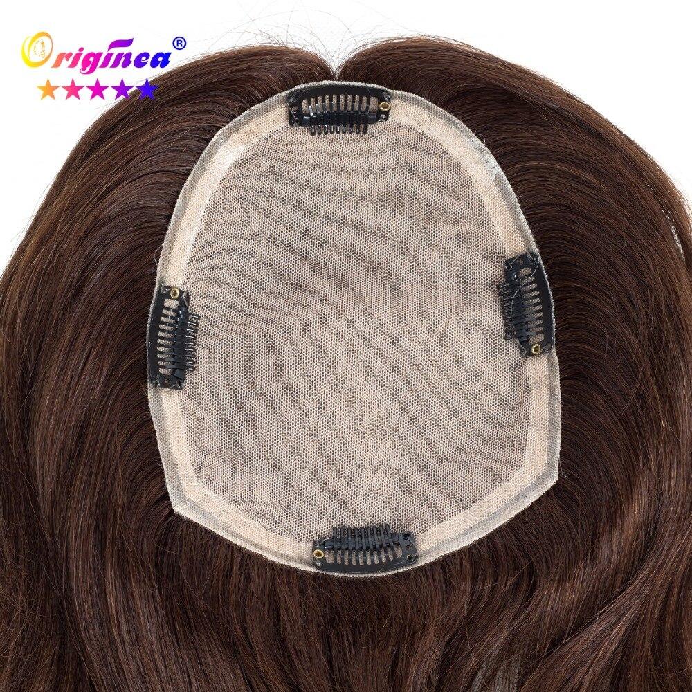 Originea Femmes Toupet de Base Net Taille 13*17 cm Cheveux Longueur 30 cm à 50 cm 100% Humains perruque de cheveux Système de Remplacement pour Femmes