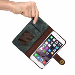For iPhone 6 Plus mobile phone holster For iPhone 6S Plus Card slot flip wallet multifunction protective case iPhone 6 Plus case 3