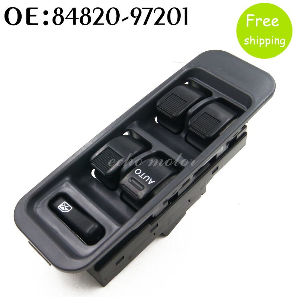 New 84820-97201 Car styling Power Master Window Switch For Daihatsu Sirion Terios Serion YRV 1998-2001 RHD left & right side new power window switch for toyota avensis 84820 05100 8482005100 driver side window control switch