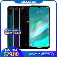 DOOGEE Y8 Android 9.0 FDD LTE Smartphone Schermo da 6.1 pollici 19:9 Waterdrop LTPS MTK6739 3GB di RAM 16GB di ROM 3400mAh Dual SIM 8.0MP