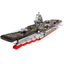 лучшая цена XINGBAO 06020 1355PCS Military Series The Aircraft Ship Building Blocks Bricks Assembly Famous Battleship Model Educational Toys